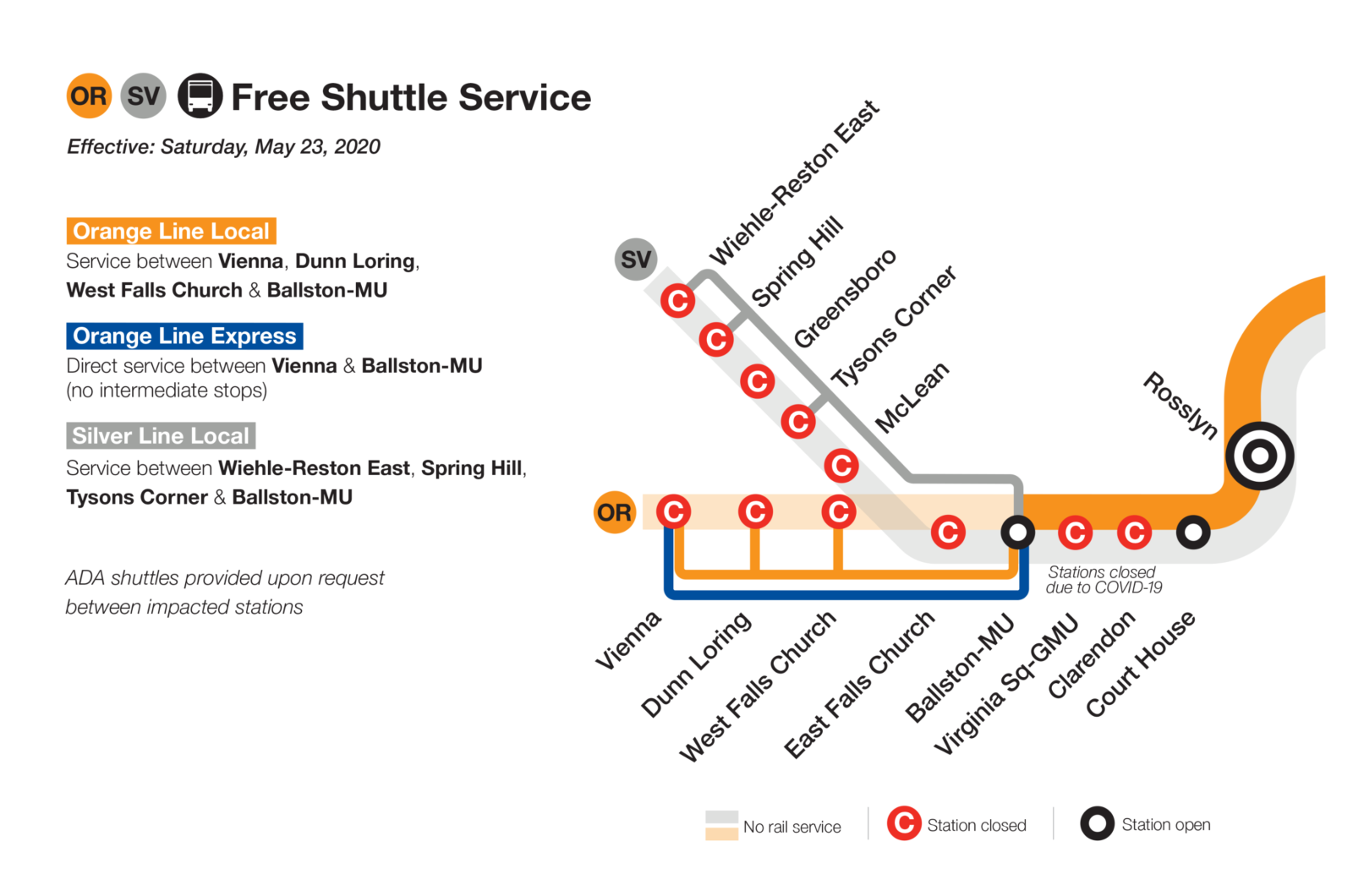 Silver and Orange Line Shutdowns